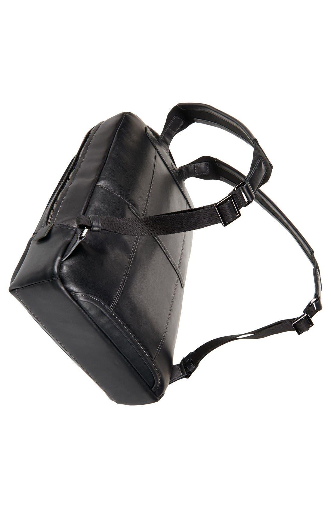 'Harrison - Bates' Leather Backpack,                             Alternate thumbnail 5, color,                             Black