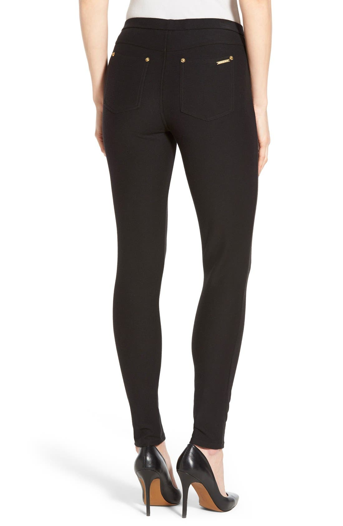 Alternate Image 2  - MICHAEL Michael Kors Stretch Twill Leggings