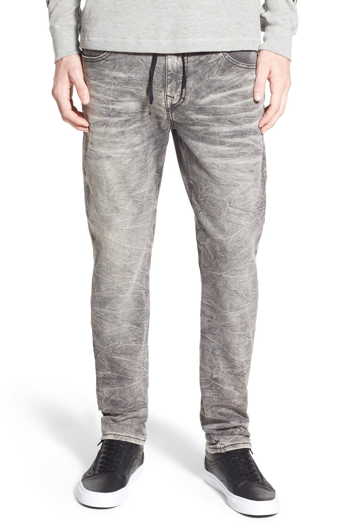 'Dean' Tapered Fit Denim Active Jogger Pants,                             Main thumbnail 1, color,                             Fog Grey