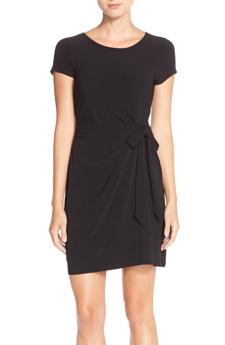 Side Tie Jersey Sheath Dress
