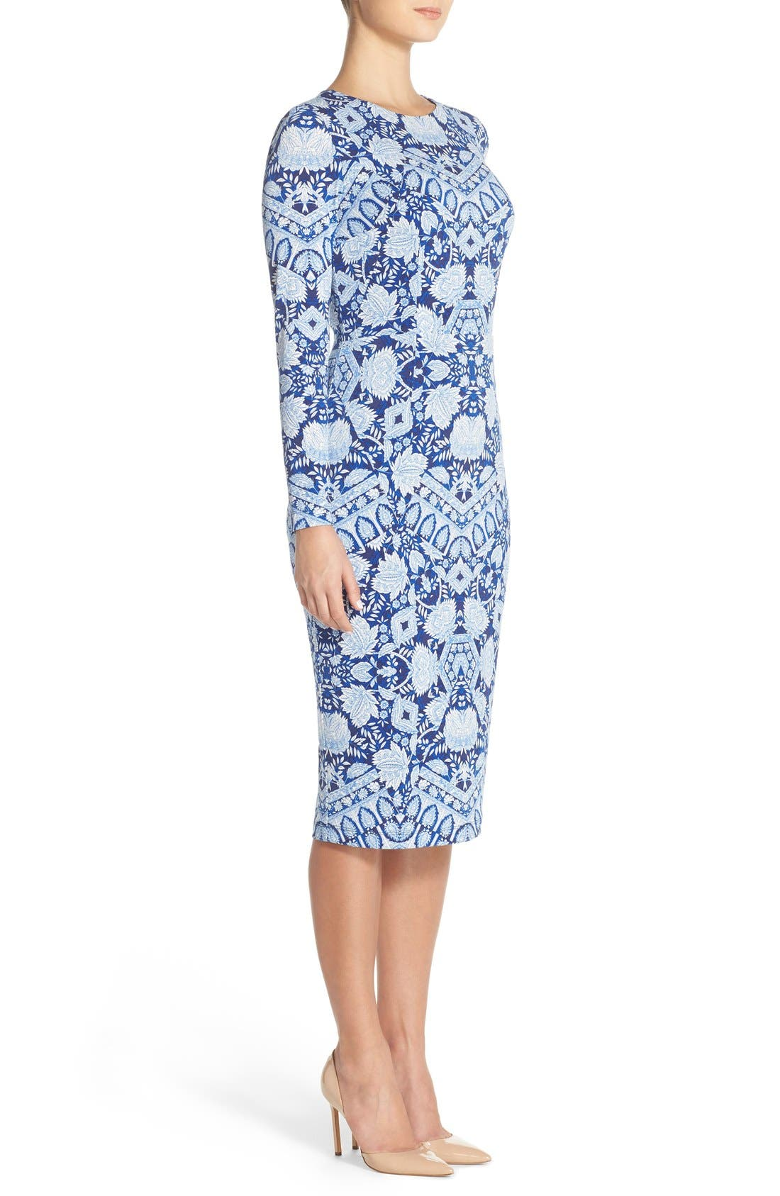 Alternate Image 3  - Maggy London Print Jersey Midi Dress