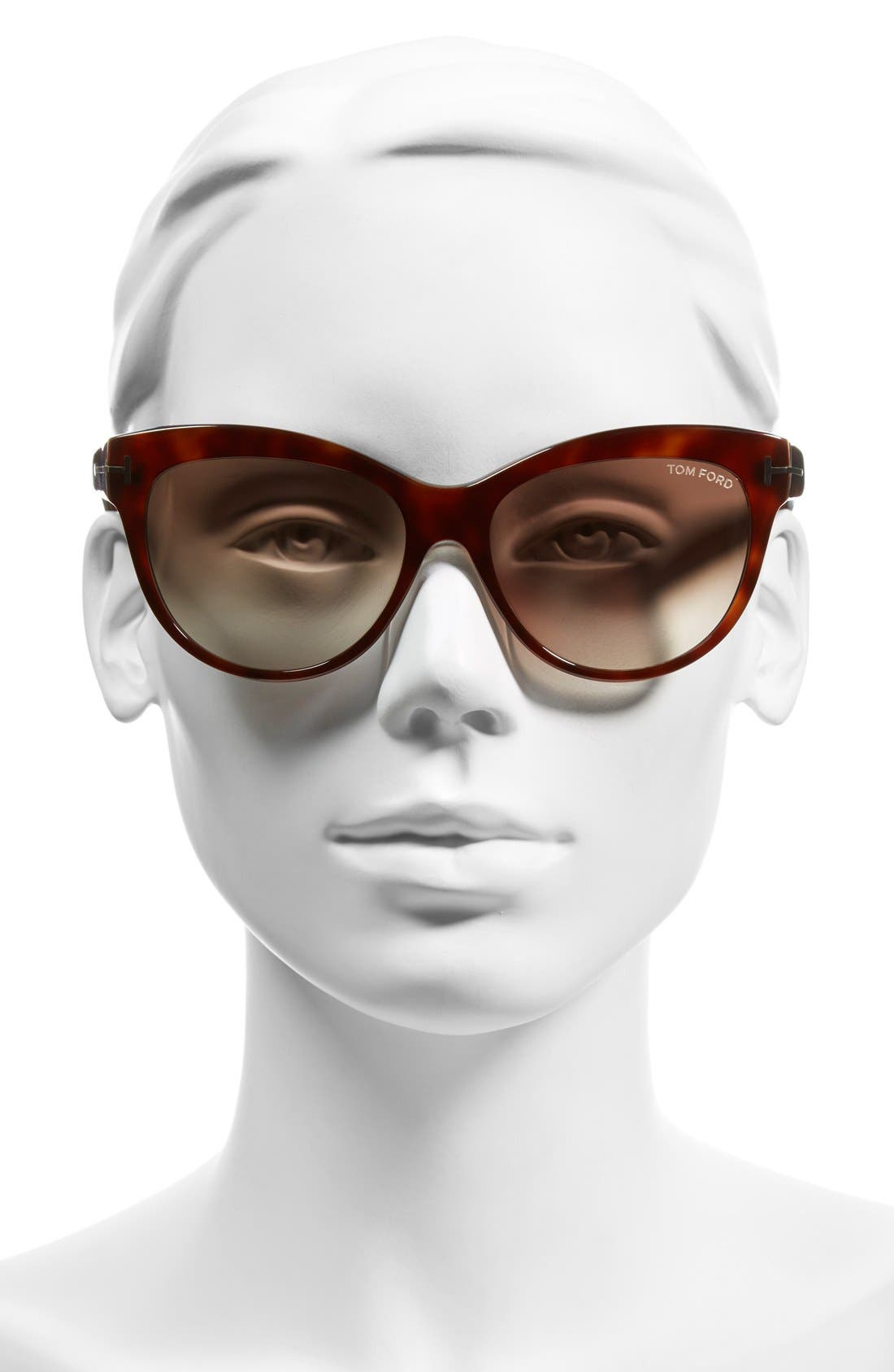 'Lily' 56mm Cat Eye Sunglasses,                             Alternate thumbnail 2, color,                             Havana/ Gradient Brown