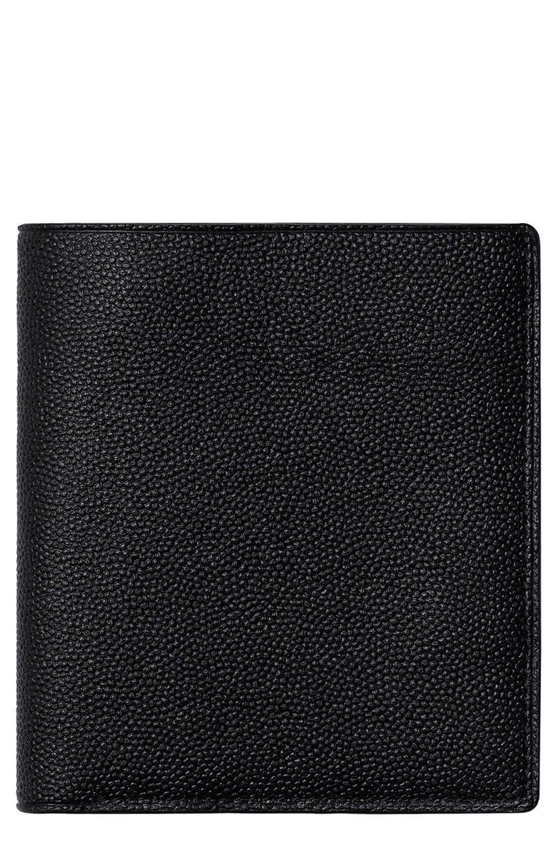 de la Vie 'Bradley' Bifold Wallet,                             Main thumbnail 1, color,                             Black Caviar