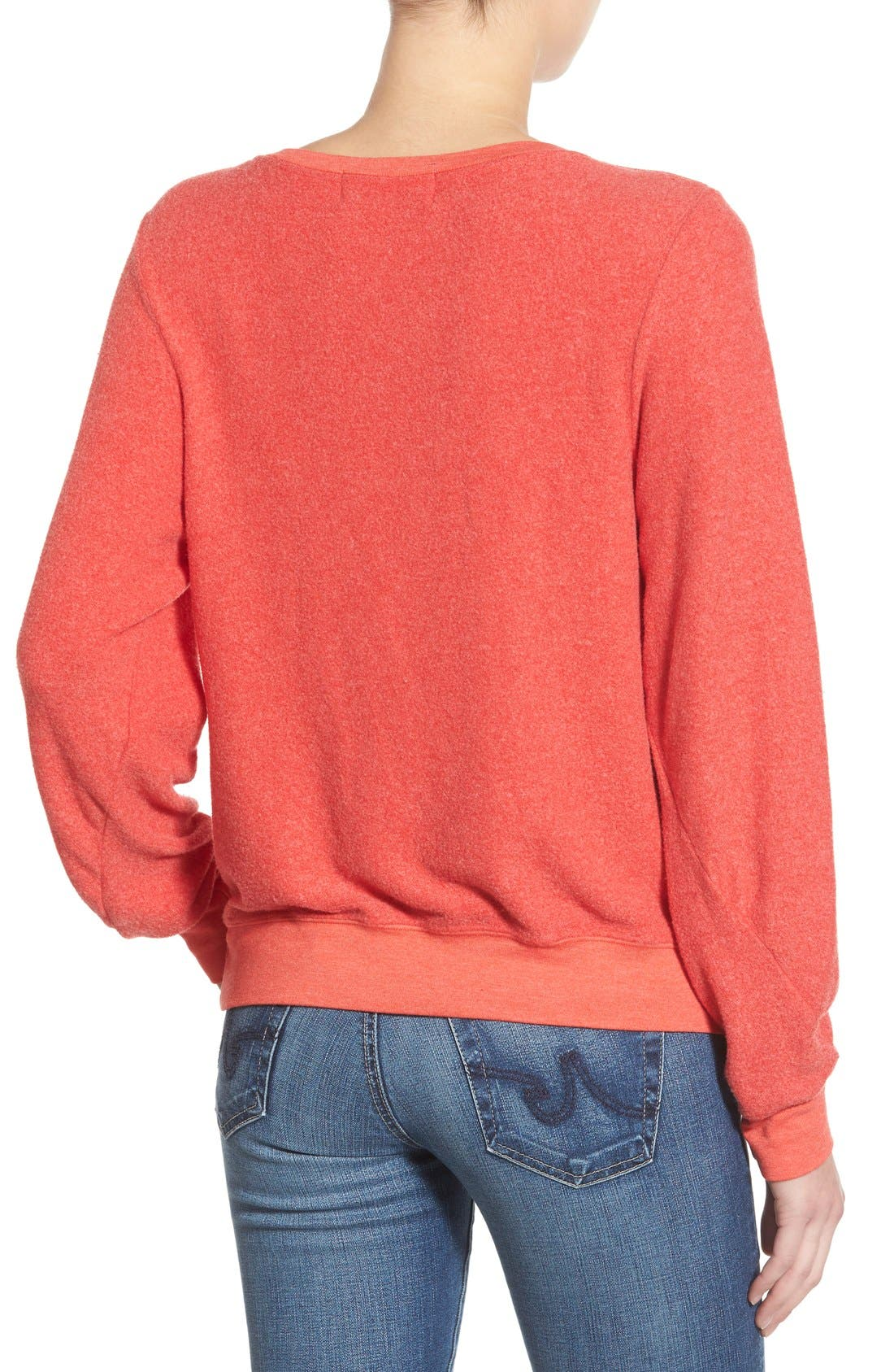 'Baggy Beach Jumper - Not With You' Pullover,                             Alternate thumbnail 3, color,                             Ariel Red