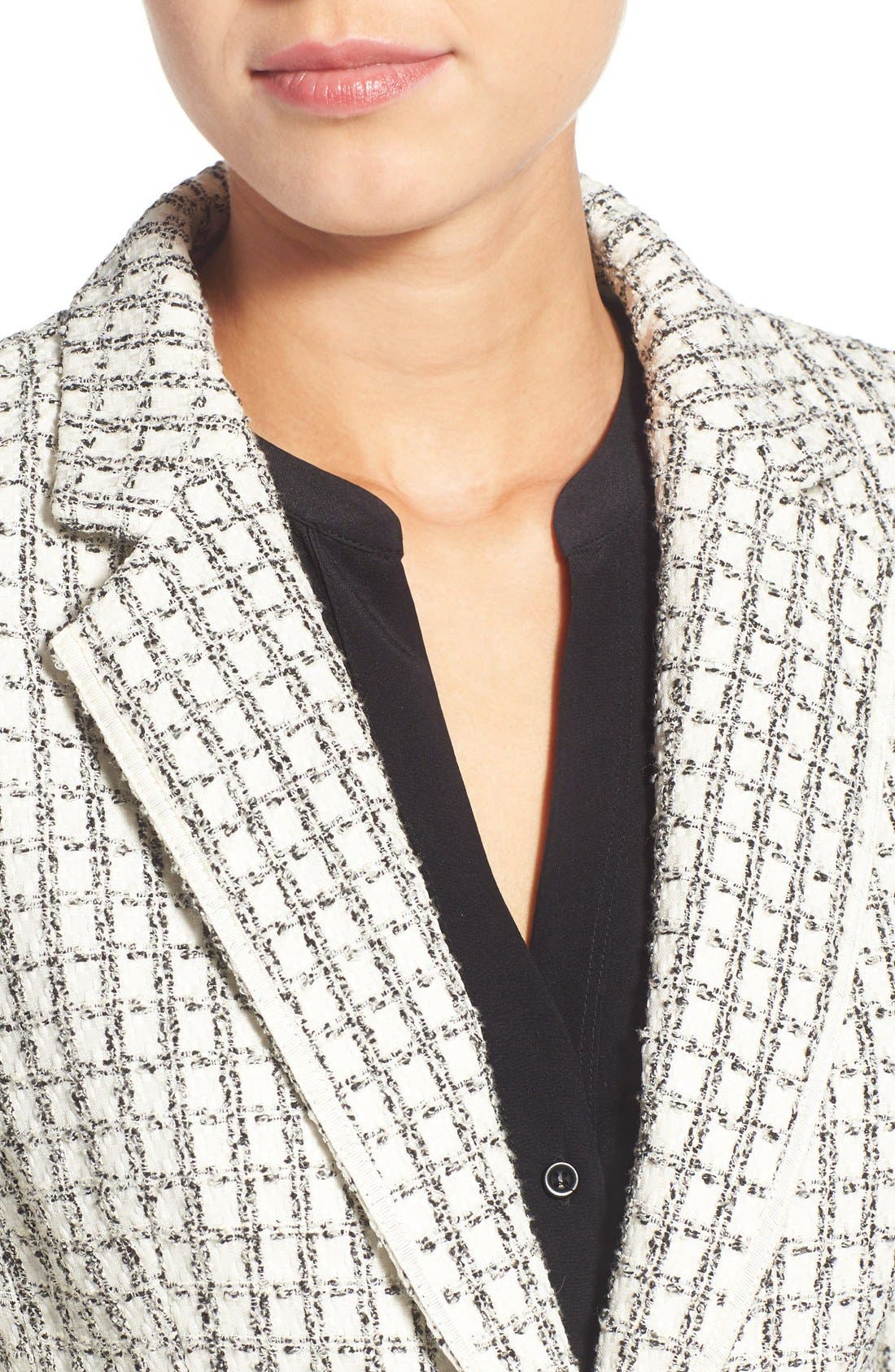Alternate Image 4  - Halogen® Textured One-Button Blazer (Regular & Petite)