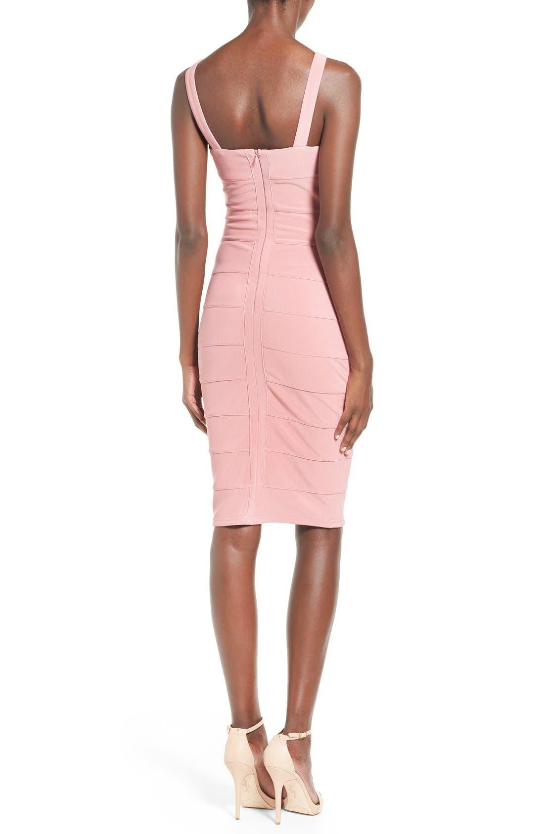 Alternate Image 2  - Missguided Geo Cutout Bandage Dress