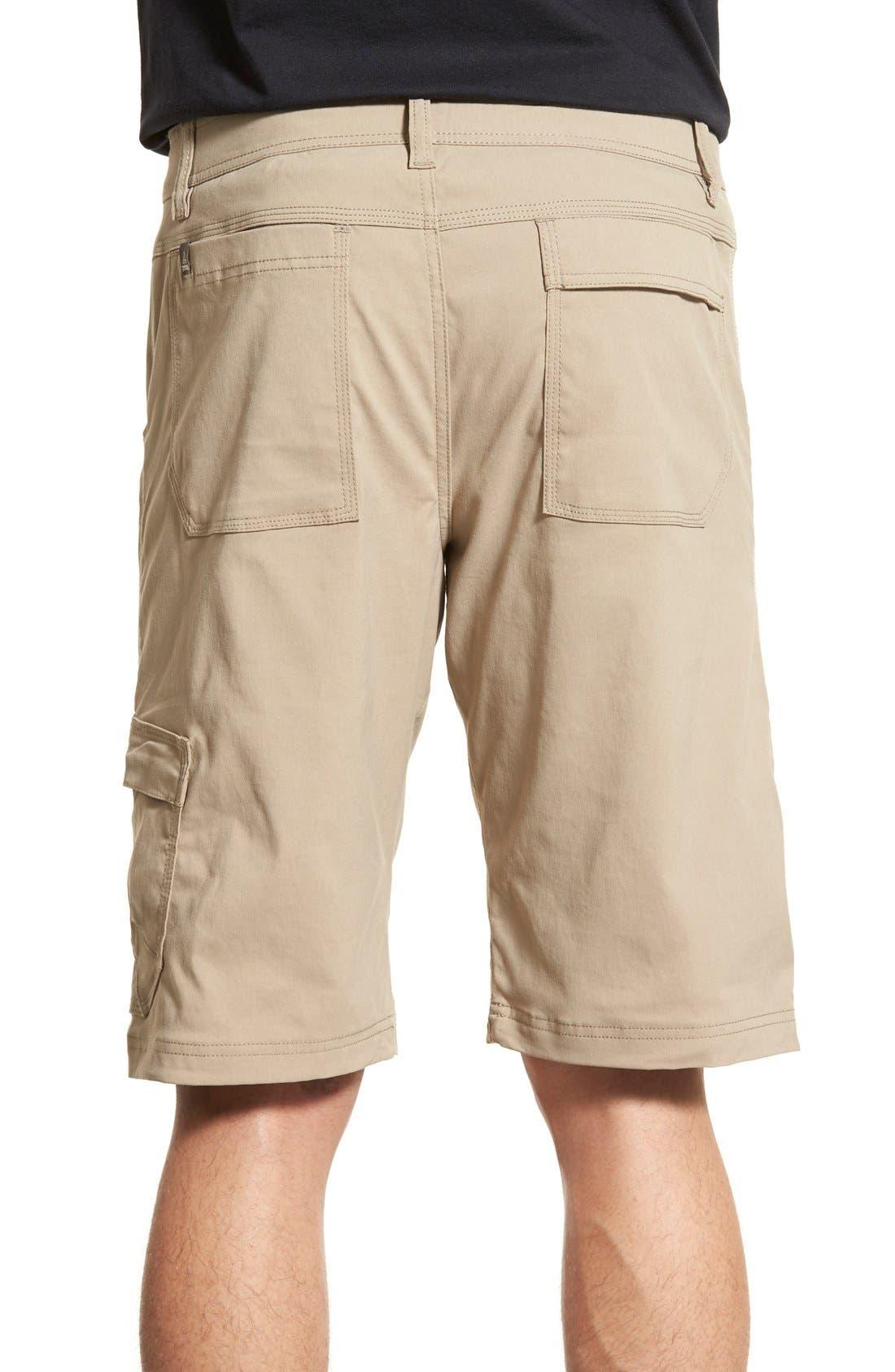 Zion Stretch Shorts,                             Alternate thumbnail 2, color,                             Dark Khaki