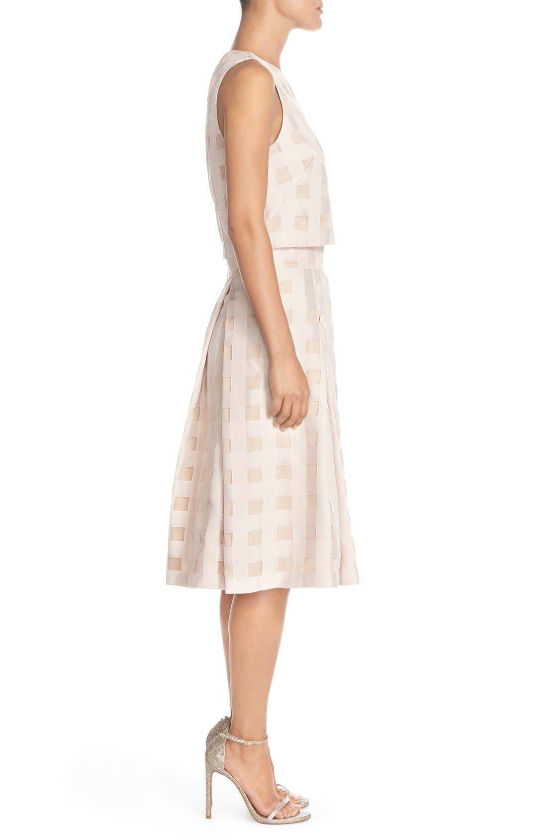 Alternate Image 3  - Eliza J Check Satin Two-Piece Dress
