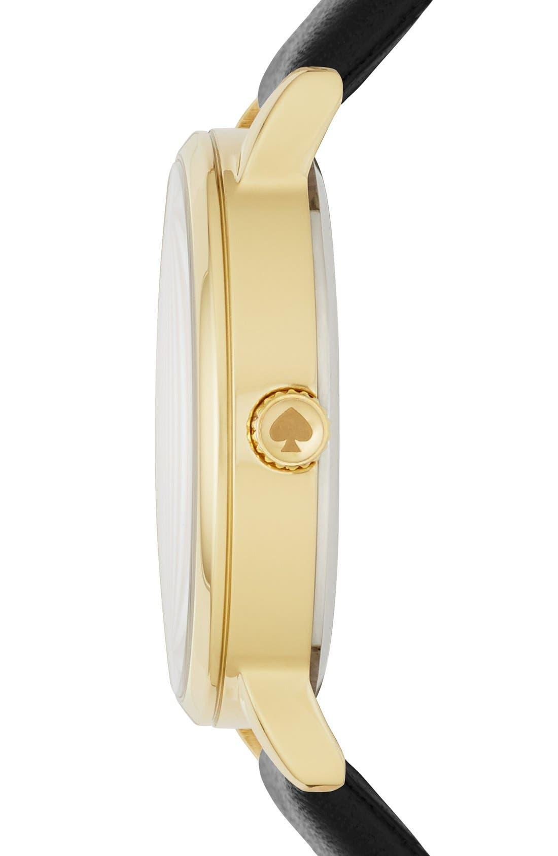 Alternate Image 2  - kate spade new york 'metro - kiss' leather strap watch, 34mm