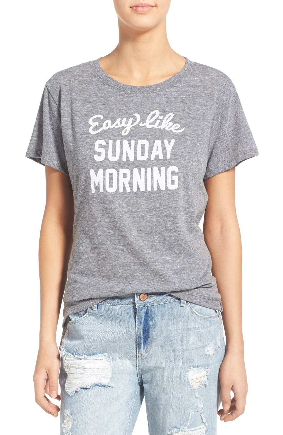 'Sunday Morning' Tee,                         Main,                         color, Heather Grey