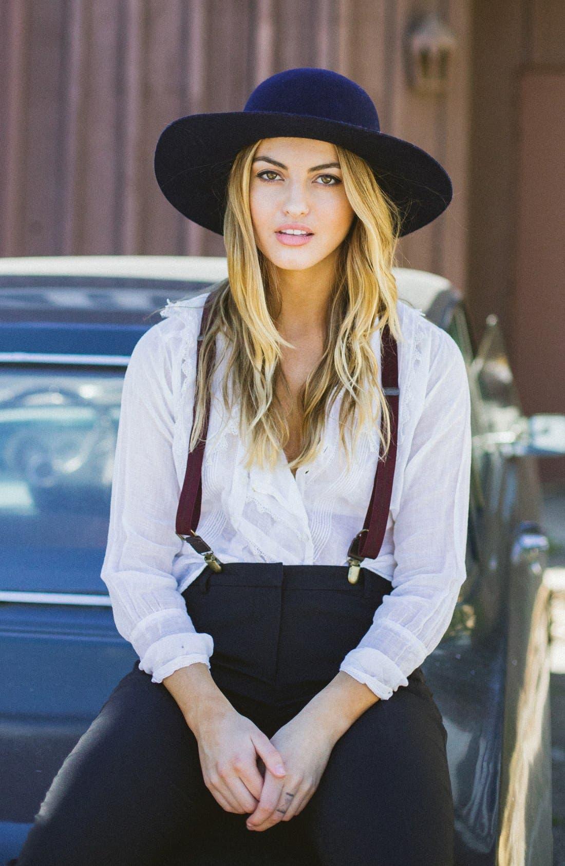 Alternate Image 4  - Brixton'Magdalena' Wide Brim Wool Felt Hat
