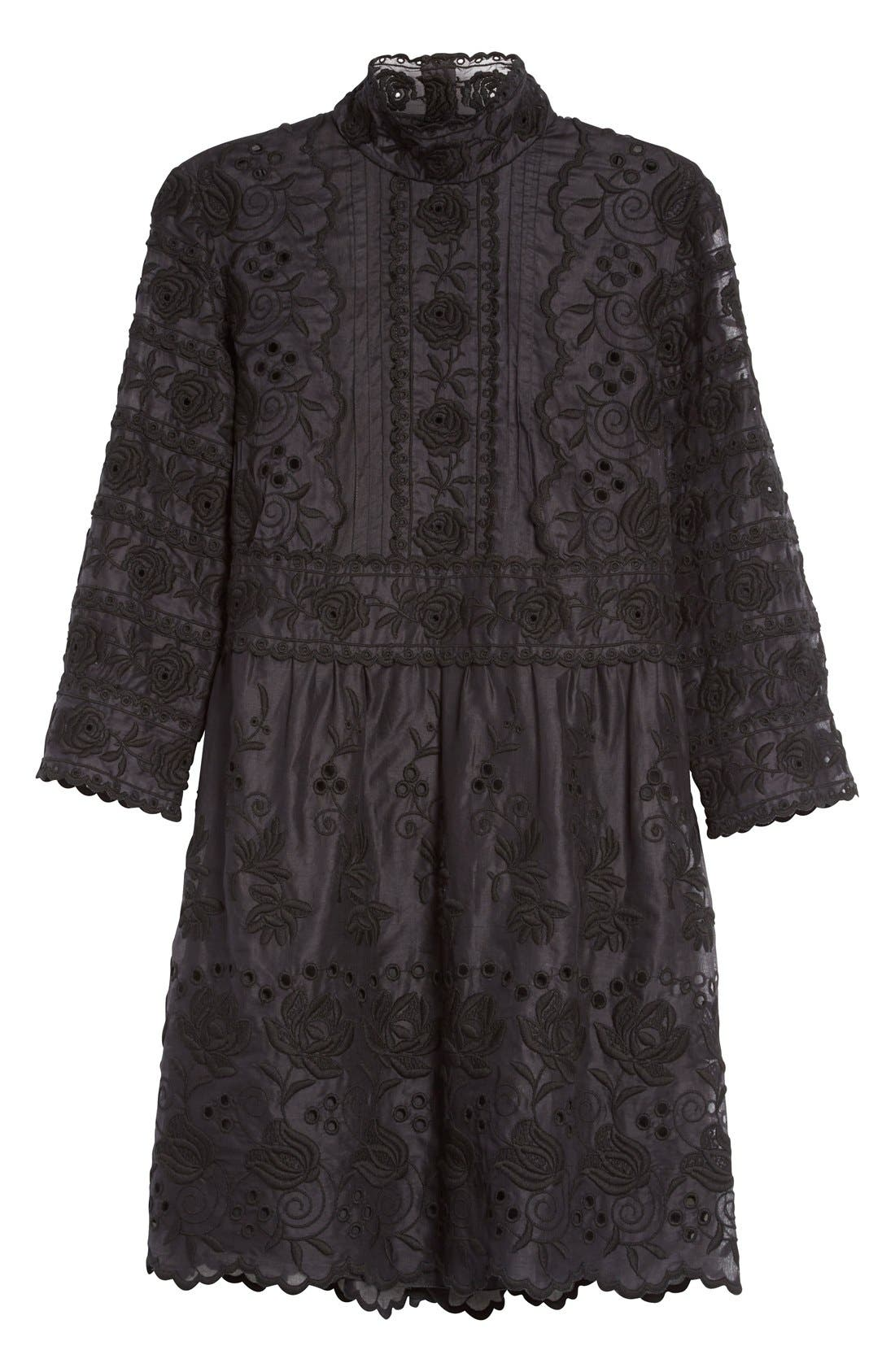Alternate Image 4  - MARC JACOBS Broderie Anglaise Cotton Voile Dress