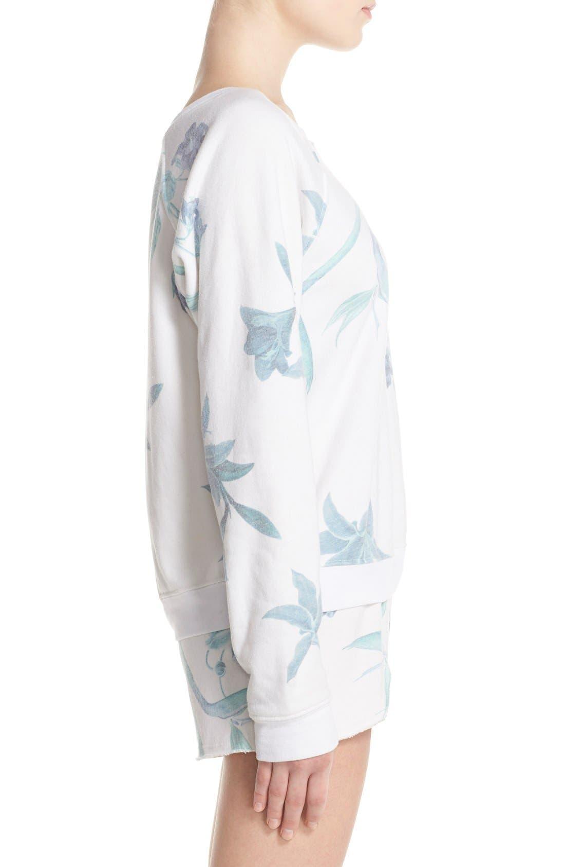 Alternate Image 3  - 35mm 'Jenna' Floral Sweatshirt