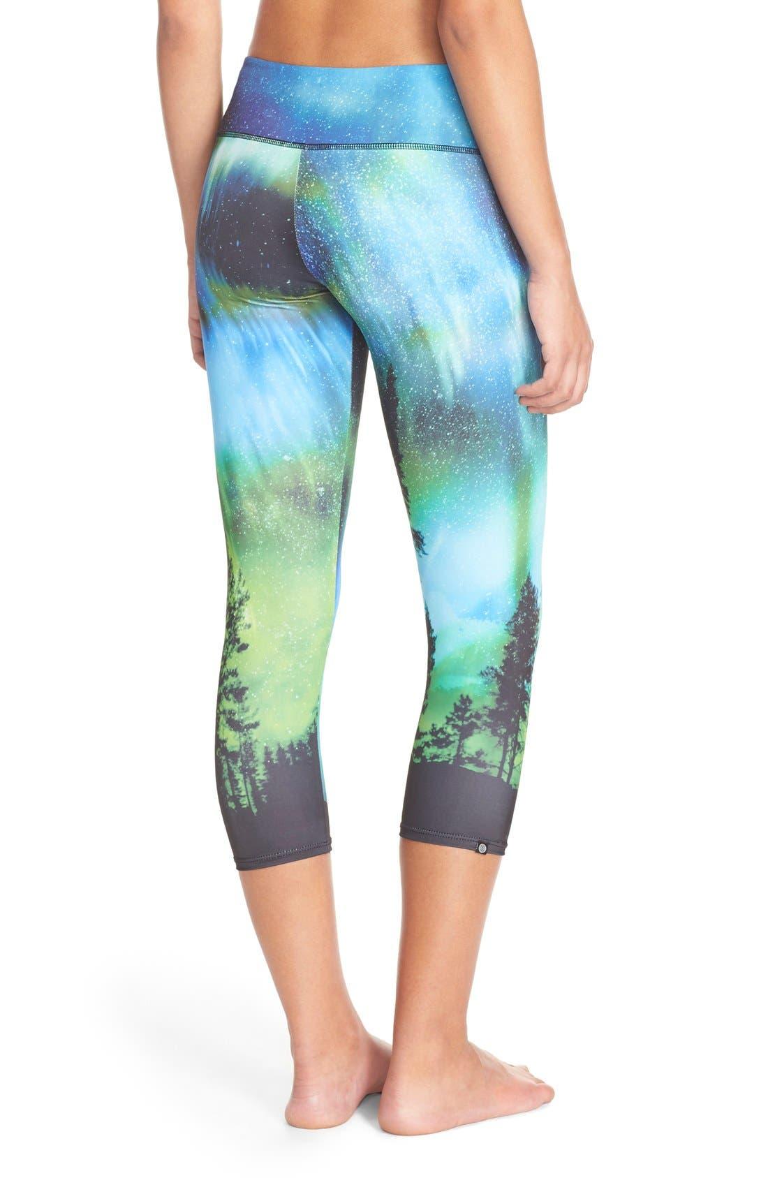 Alternate Image 2  - Onzie Graphic Print Capri Leggings