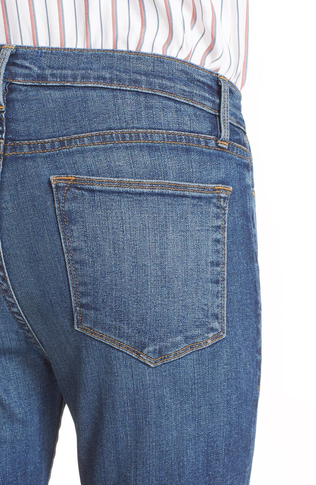 Alternate Image 4  - FRAME 'Le High Flare' Jeans (Neosho)