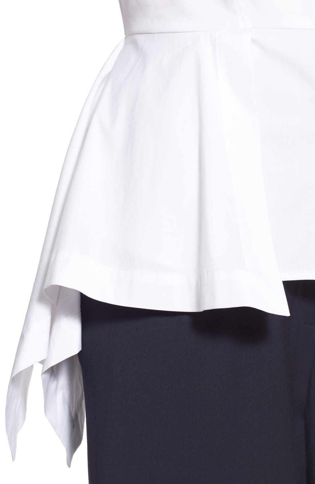 Alternate Image 4  - Olivia Palermo + Chelsea28 Poplin Peplum Shirt