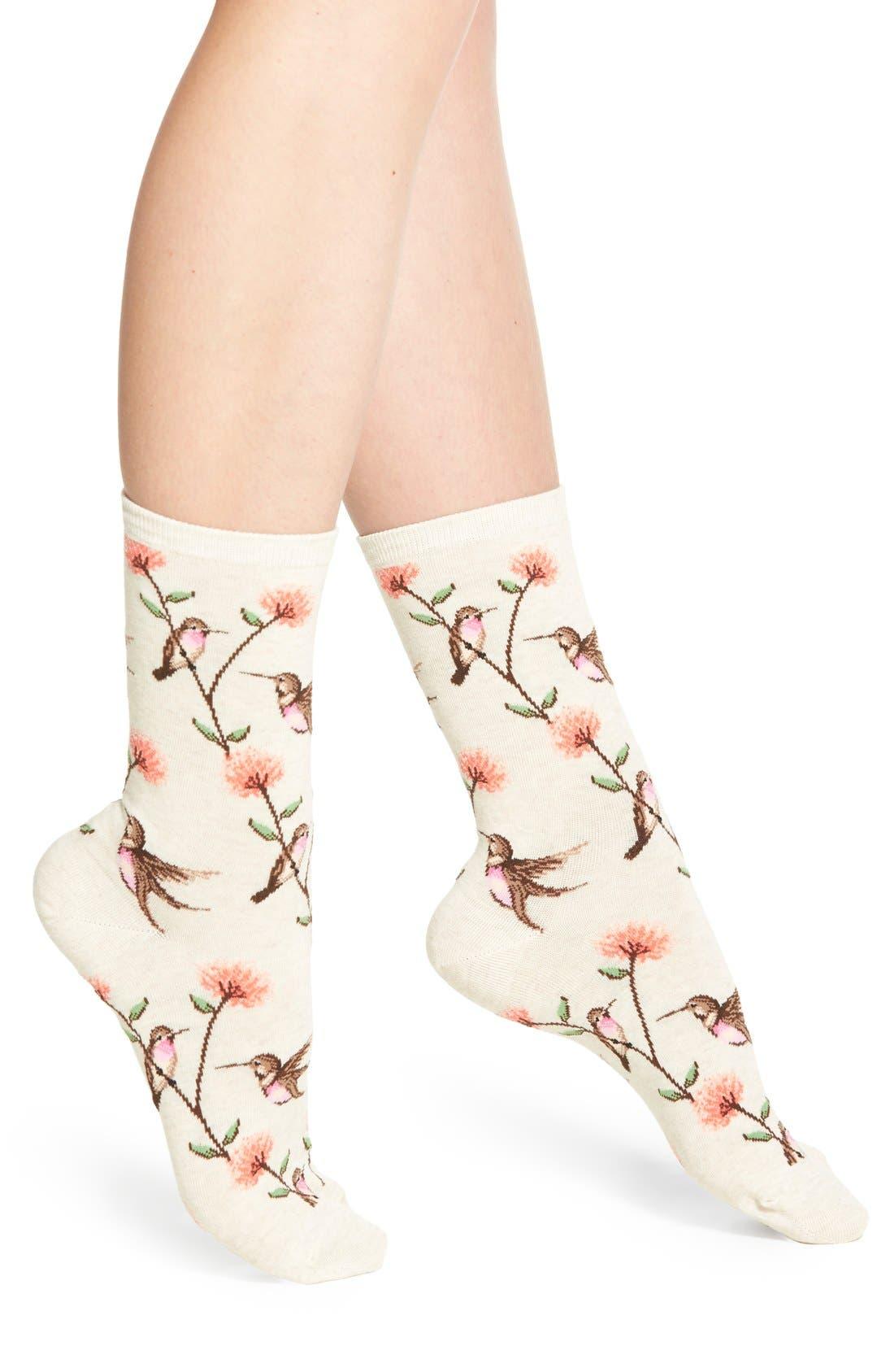 Alternate Image 1 Selected - Hot Sox 'Hummingbirds' Socks (3 for $15)