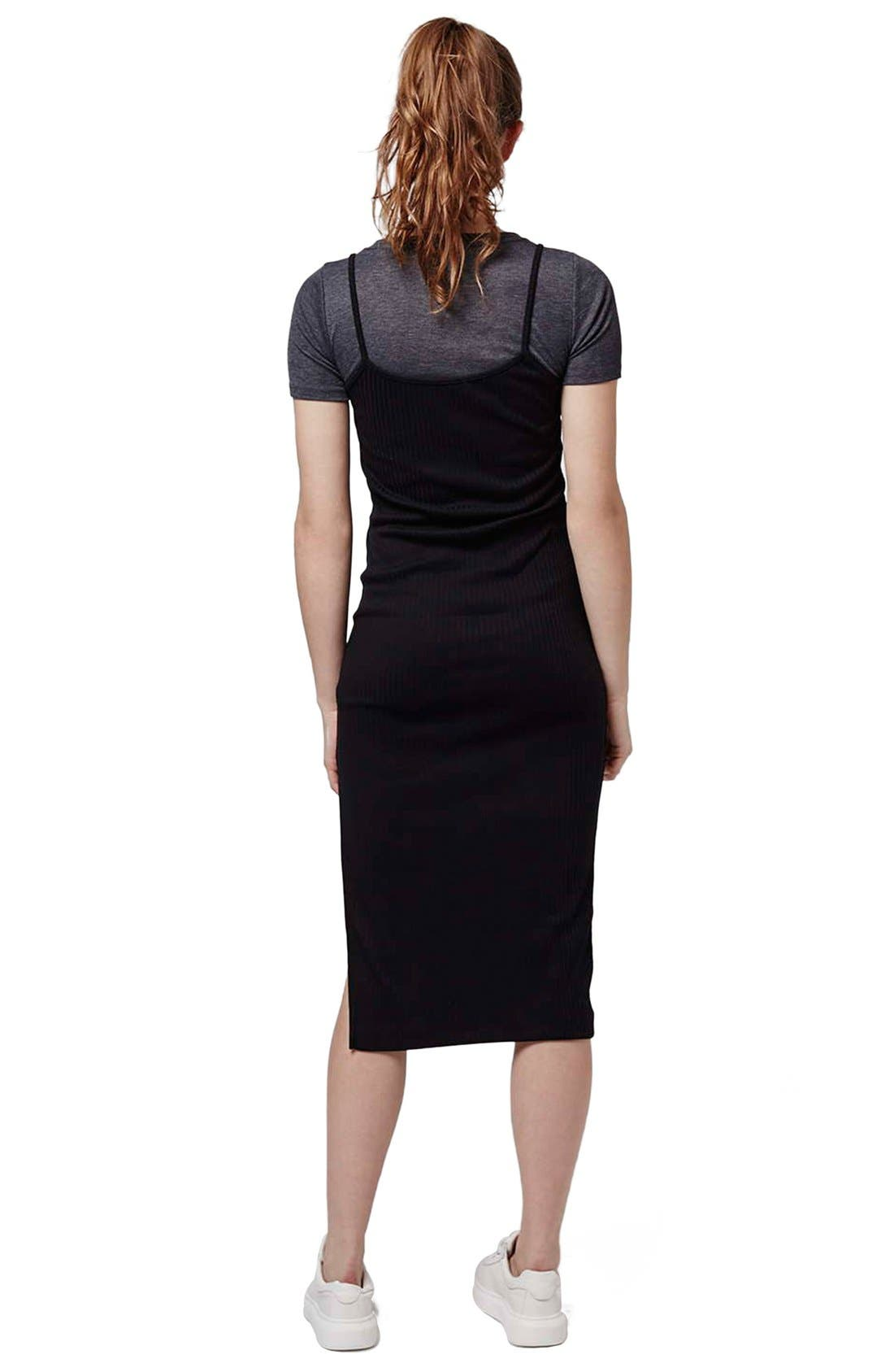 Alternate Image 2  - Topshop Layered Midi Dress