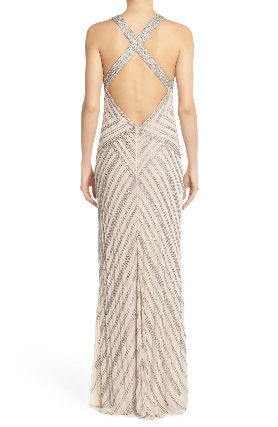 Alternate Image 2  - Adrianna Papell Embellished Cross Back Gown