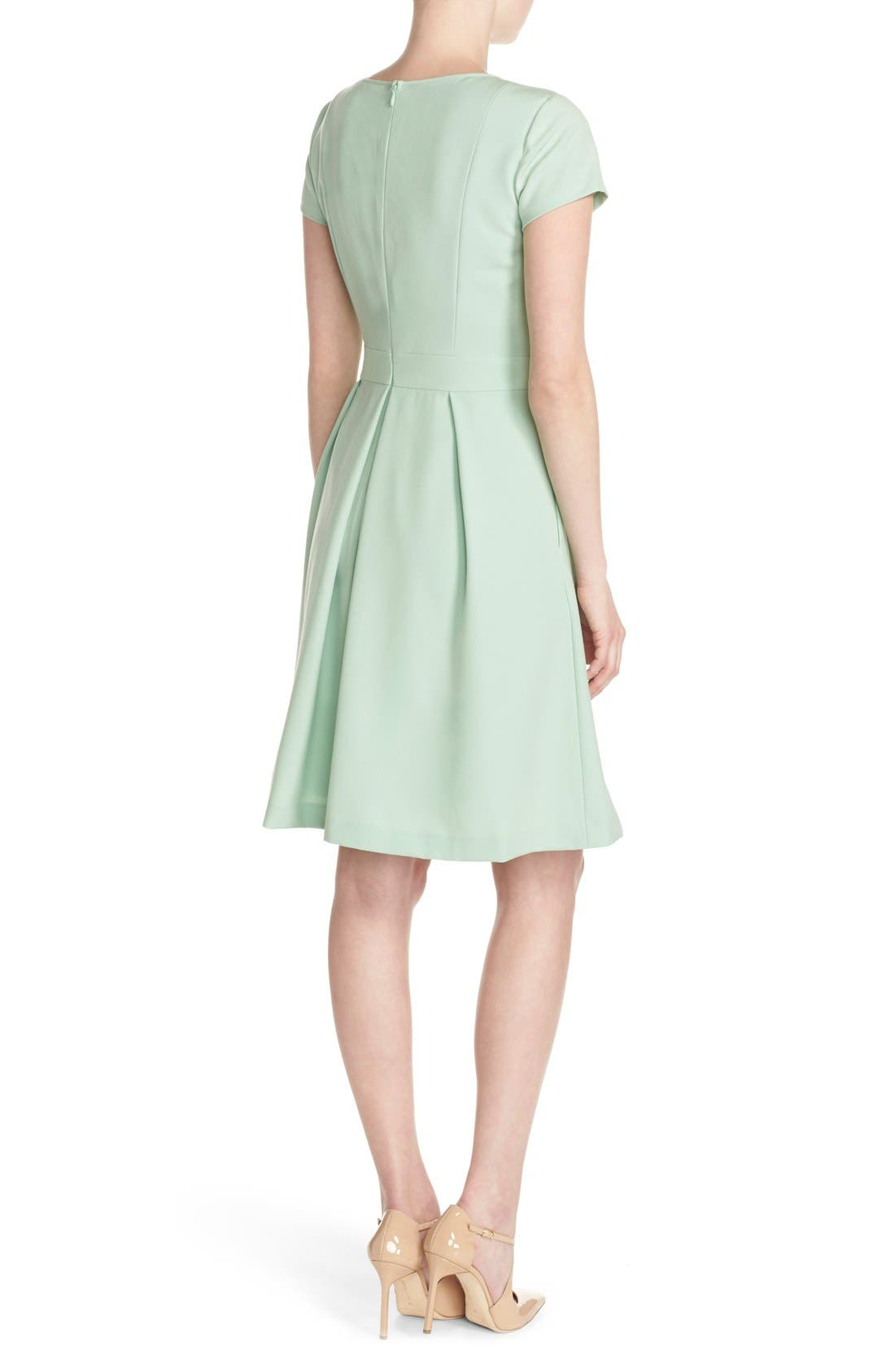 Alternate Image 2  - Ellen Tracy Cutout Neck Fit & Flare Dress (Regular & Petite)