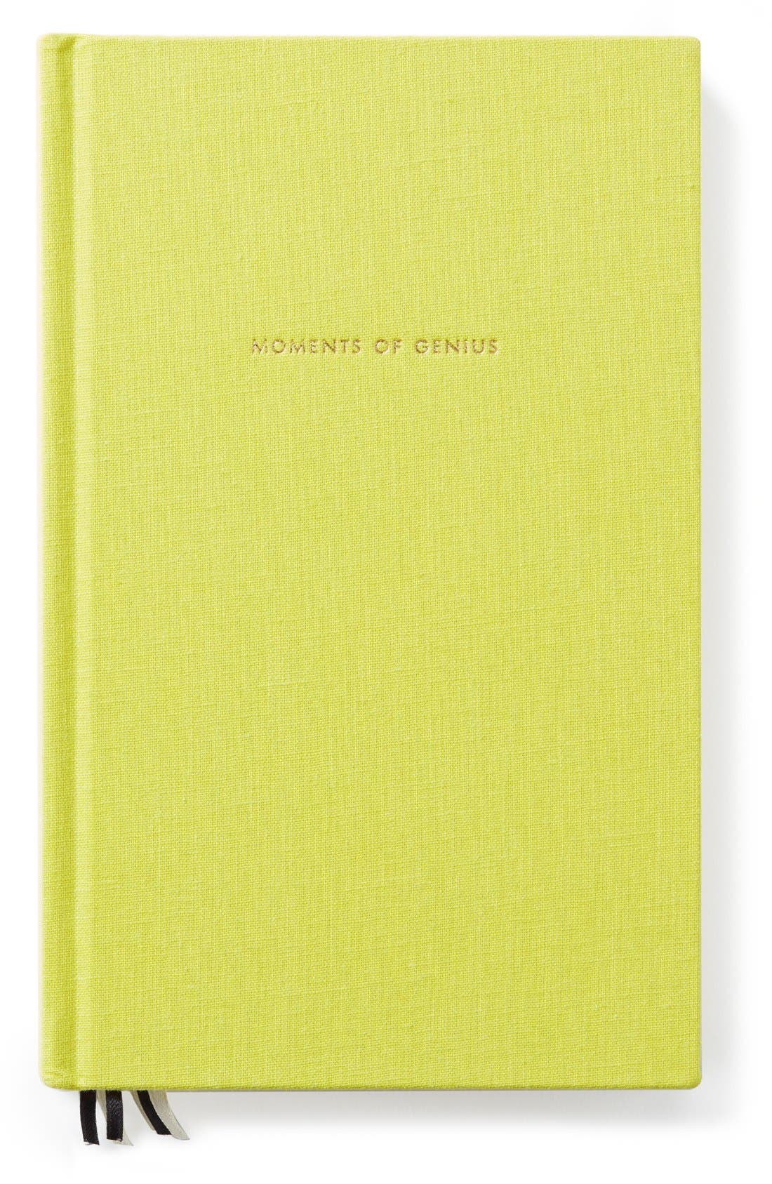 'moments of genius' journal,                         Main,                         color, Green