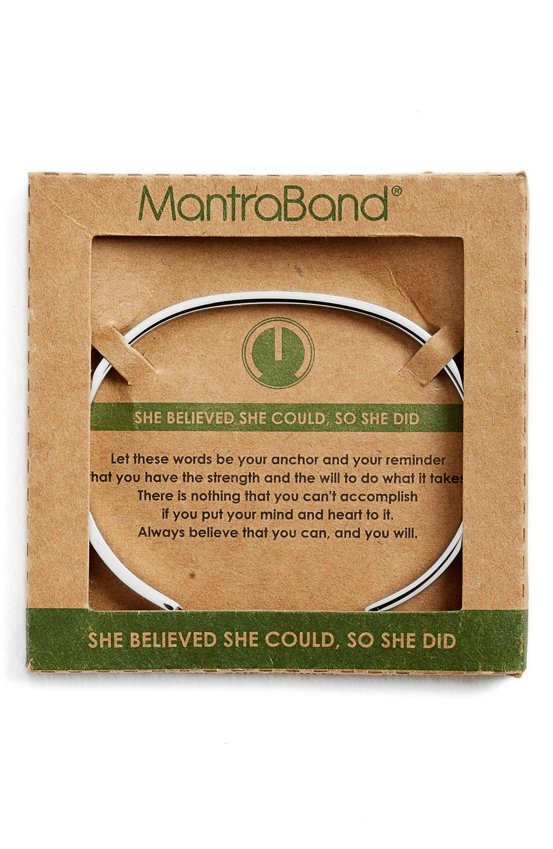 'She Believed She Could' Cuff,                             Alternate thumbnail 2, color,                             Silver