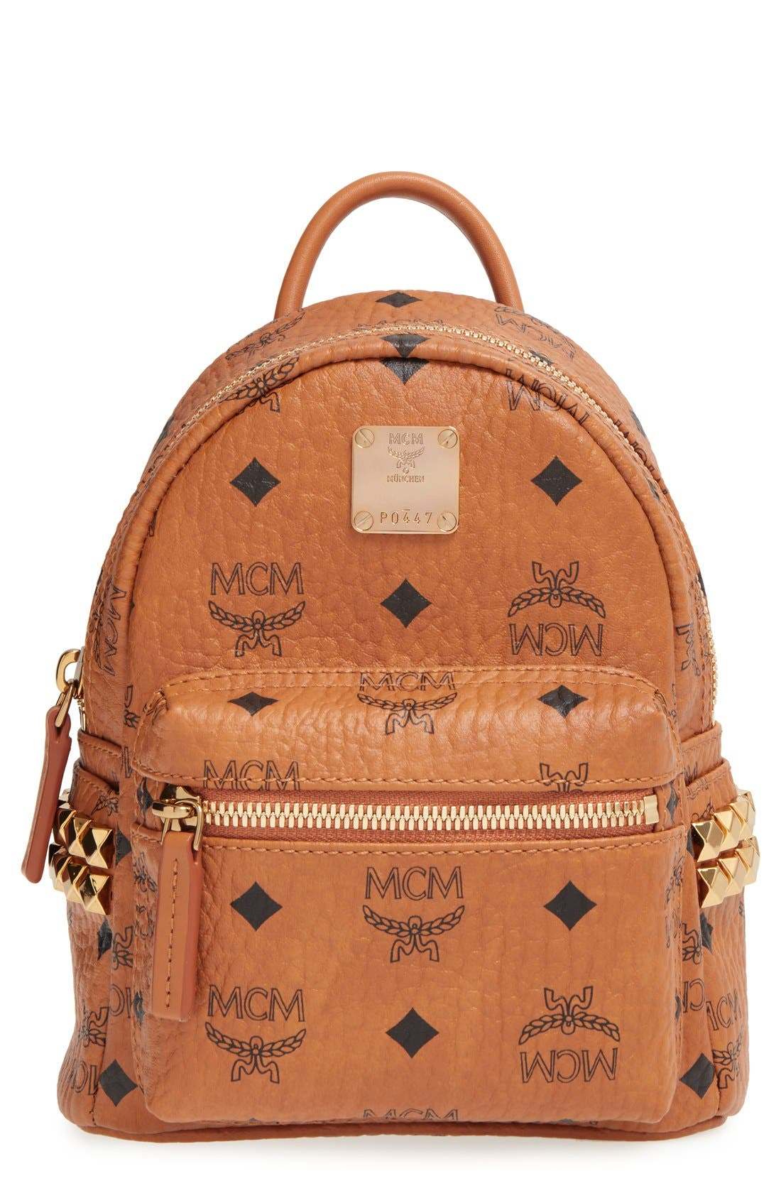 MCM 'X-Mini Stark Side Stud' Convertible Backpack