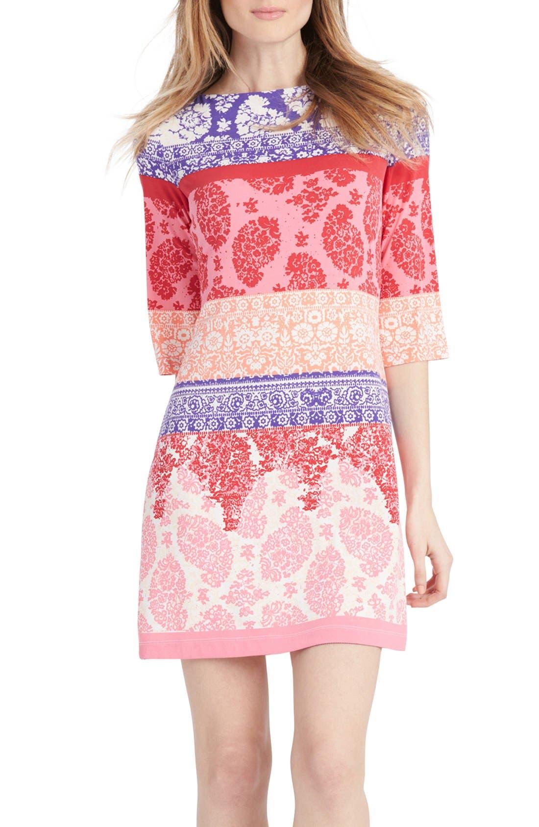 Main Image - Donna Morgan Print Jersey Shift Dress