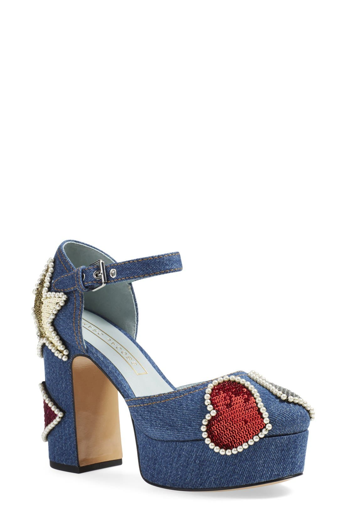 Alternate Image 1 Selected - MARC JACOBS 'American' Ankle Strap Platform Pump (Women)