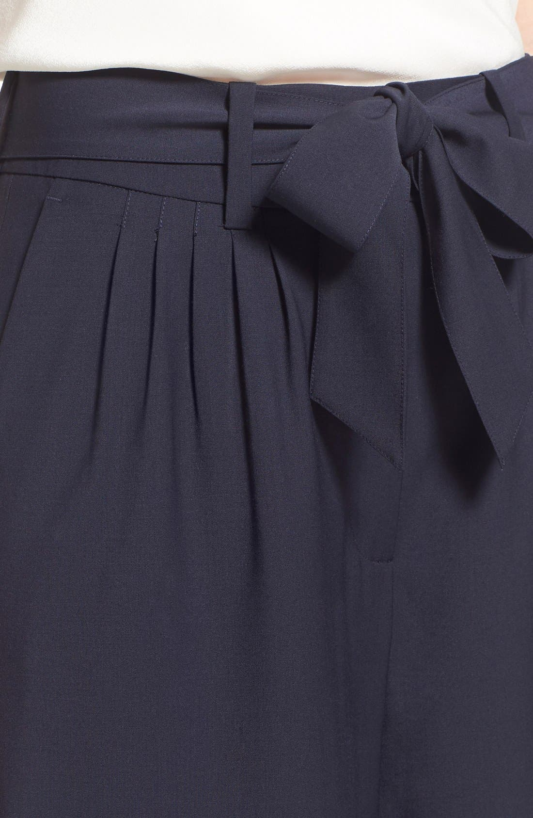 Pleat Front Trousers,                             Alternate thumbnail 5, color,                             Navy Evening