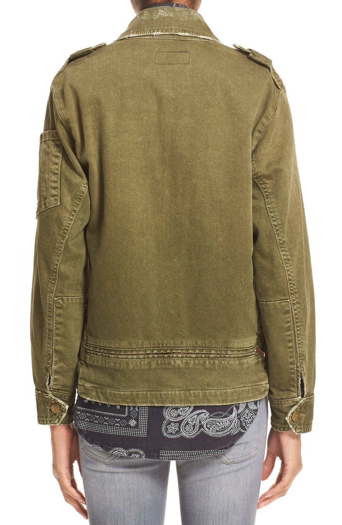 Alternate Image 3  - Current/Elliott 'Slanted Pocket' Army Jacket