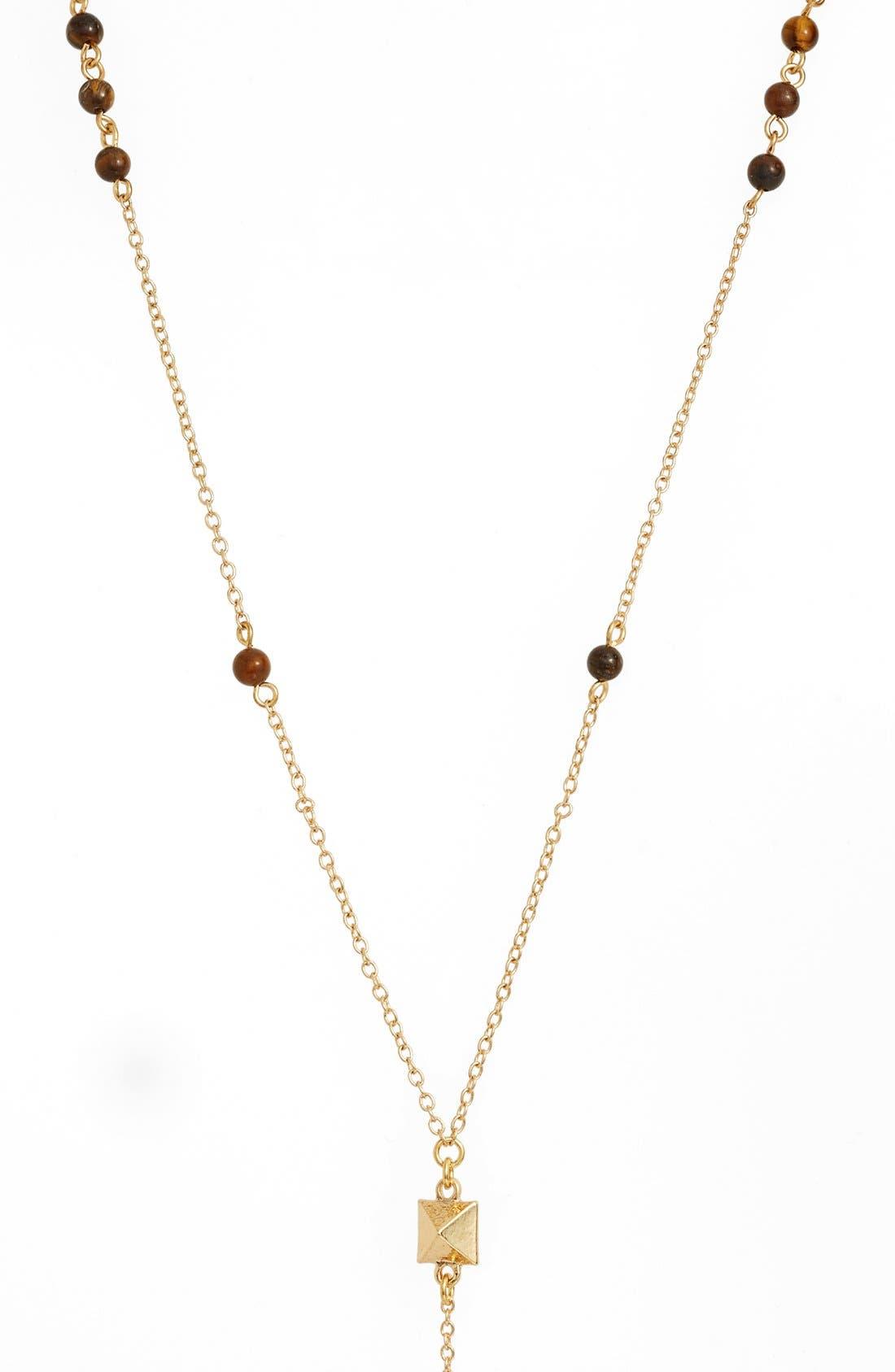 Alternate Image 2  - Ettika Pyramid Pendant Rosary Necklace
