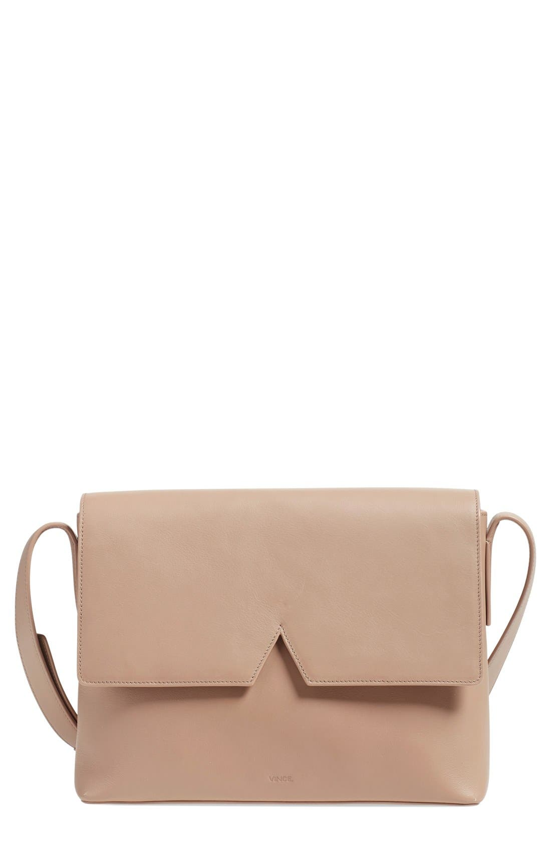 Main Image - Vince 'Medium Signature' Leather Crossbody Bag
