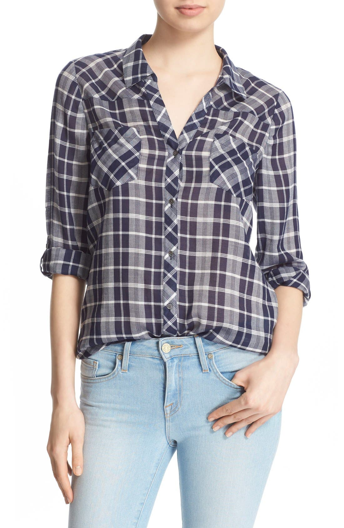 Alternate Image 1 Selected - Soft Joie 'Daesha' Plaid Shirt