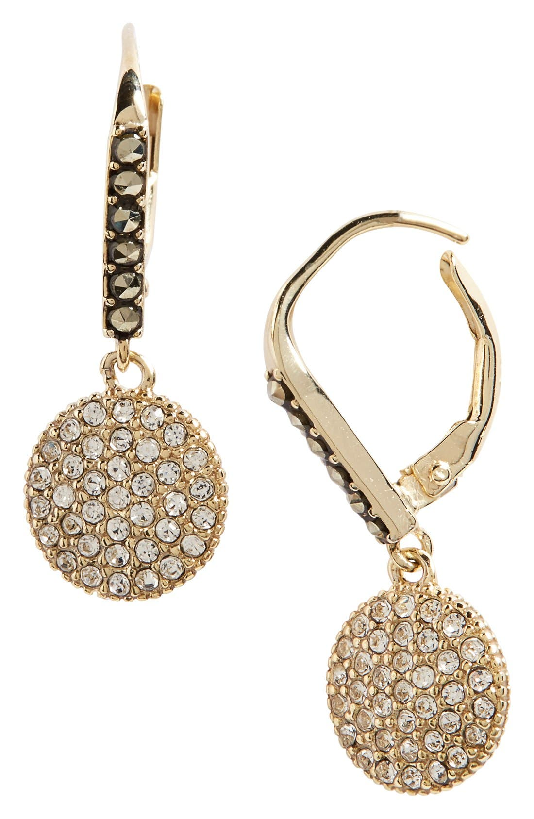 JUDITH JACK Round Drop Earrings