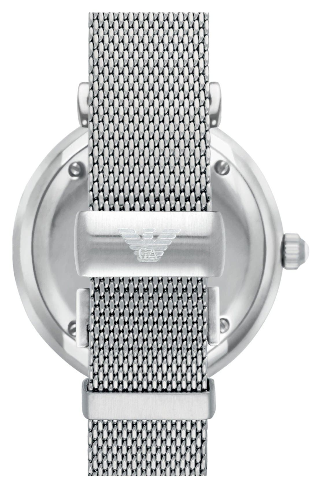 Alternate Image 2  - Emporio Armani Mesh Strap Watch, 32mm