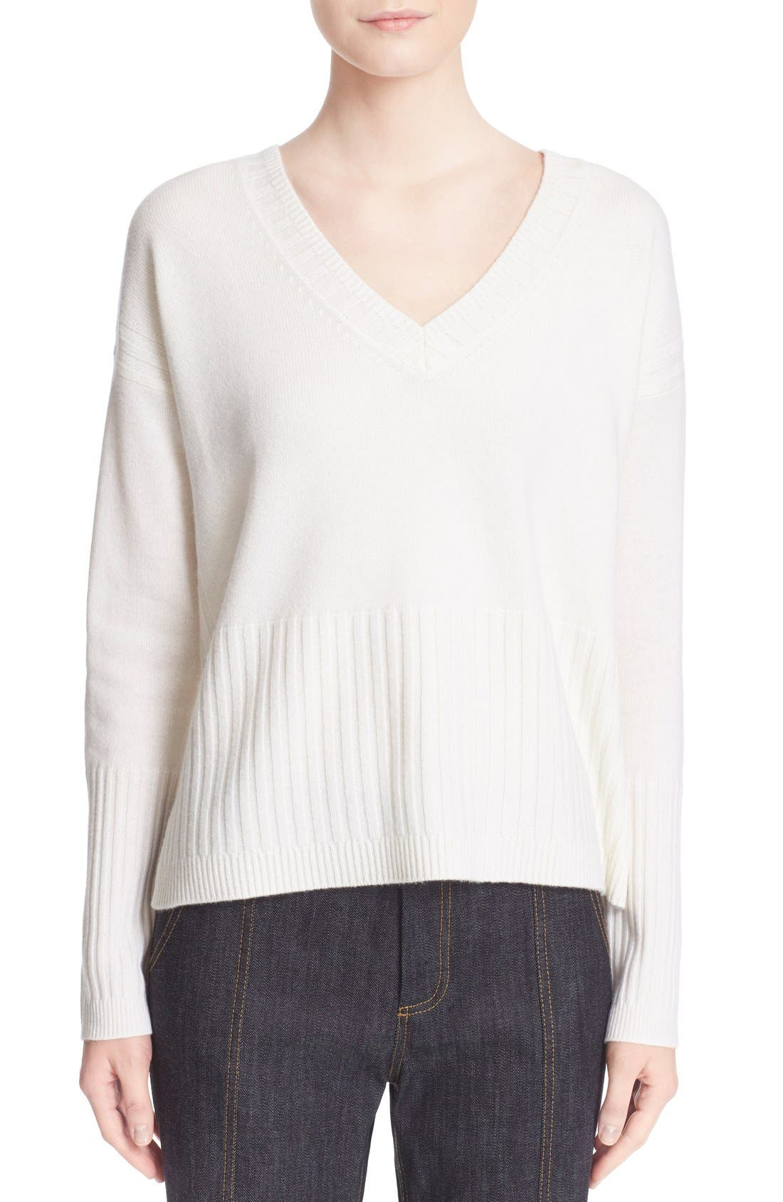 Alternate Image 1 Selected - Derek Lam 10 Crosby V-Neck Cashmere Sweater