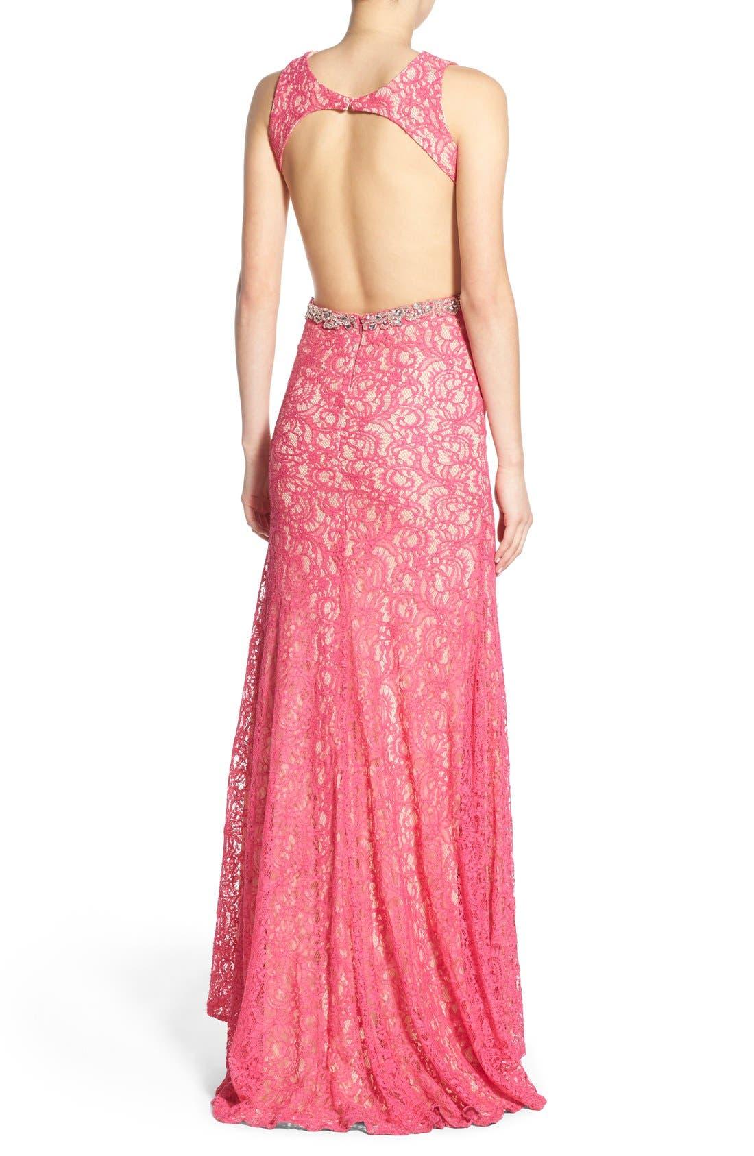 Alternate Image 2  - Mac Duggal Lace Cutout Gown