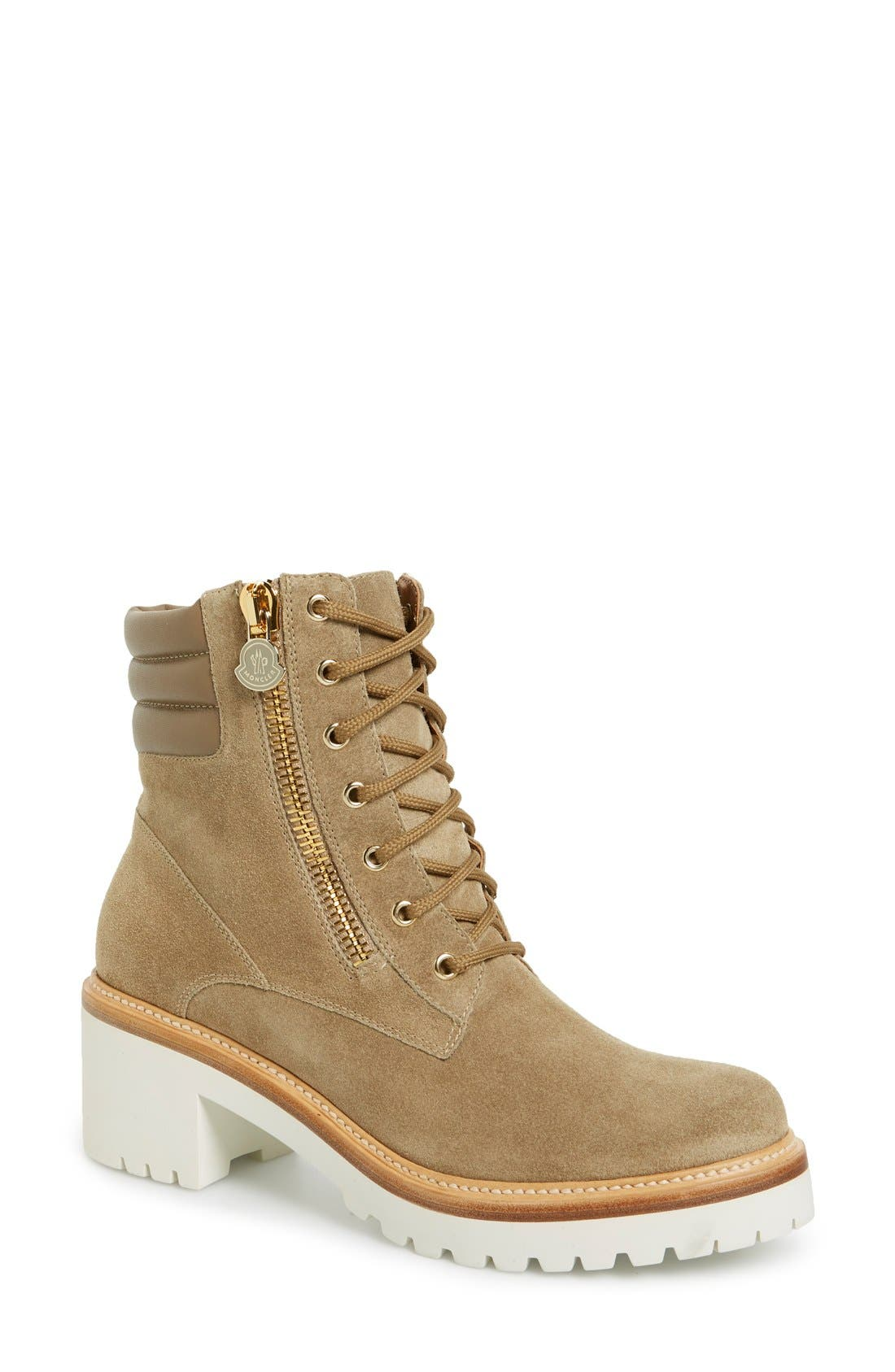 'Viviane' Hiker Boot,                         Main,                         color, Brown Suede Calfskin