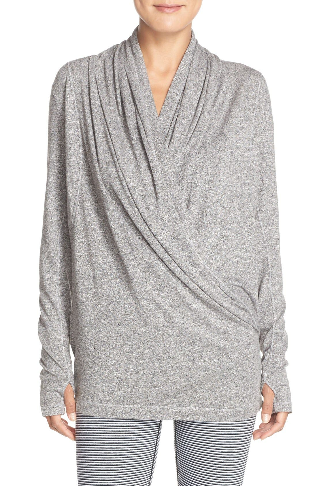 'Enlighten Me' Cardigan,                         Main,                         color, Grey Harem
