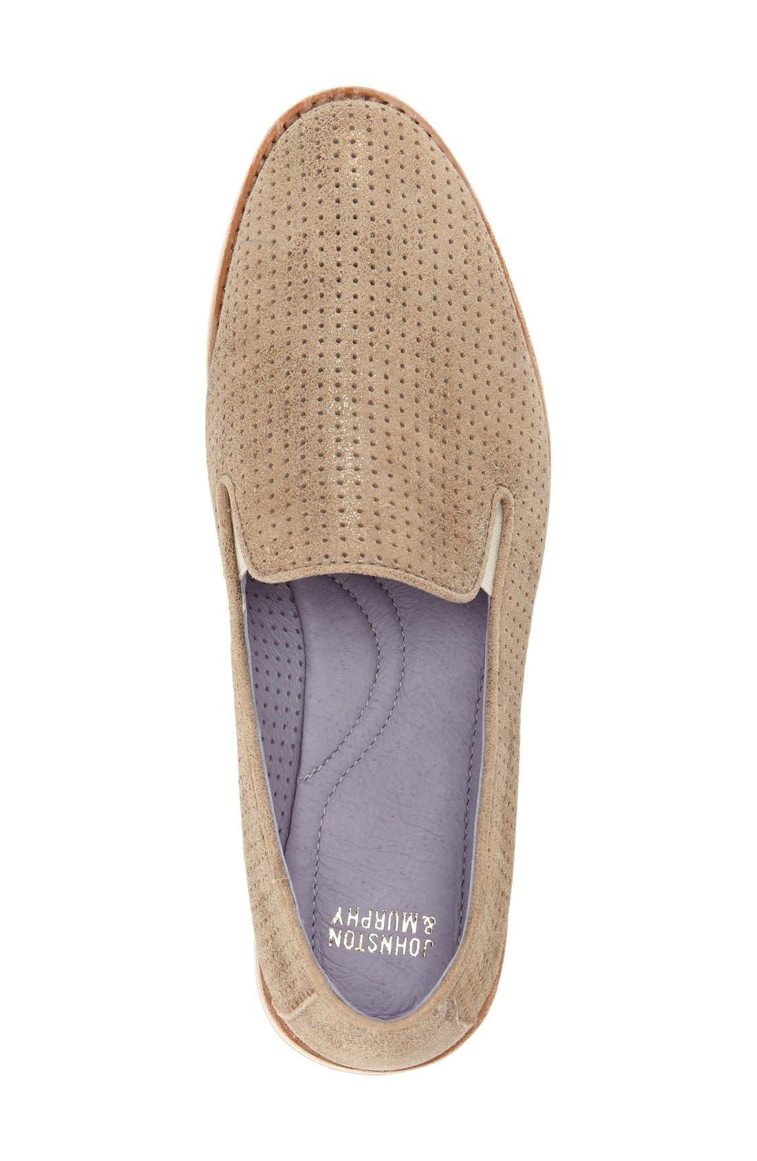 'Paulette' Slip-On Sneaker,                             Alternate thumbnail 4, color,                             Gold