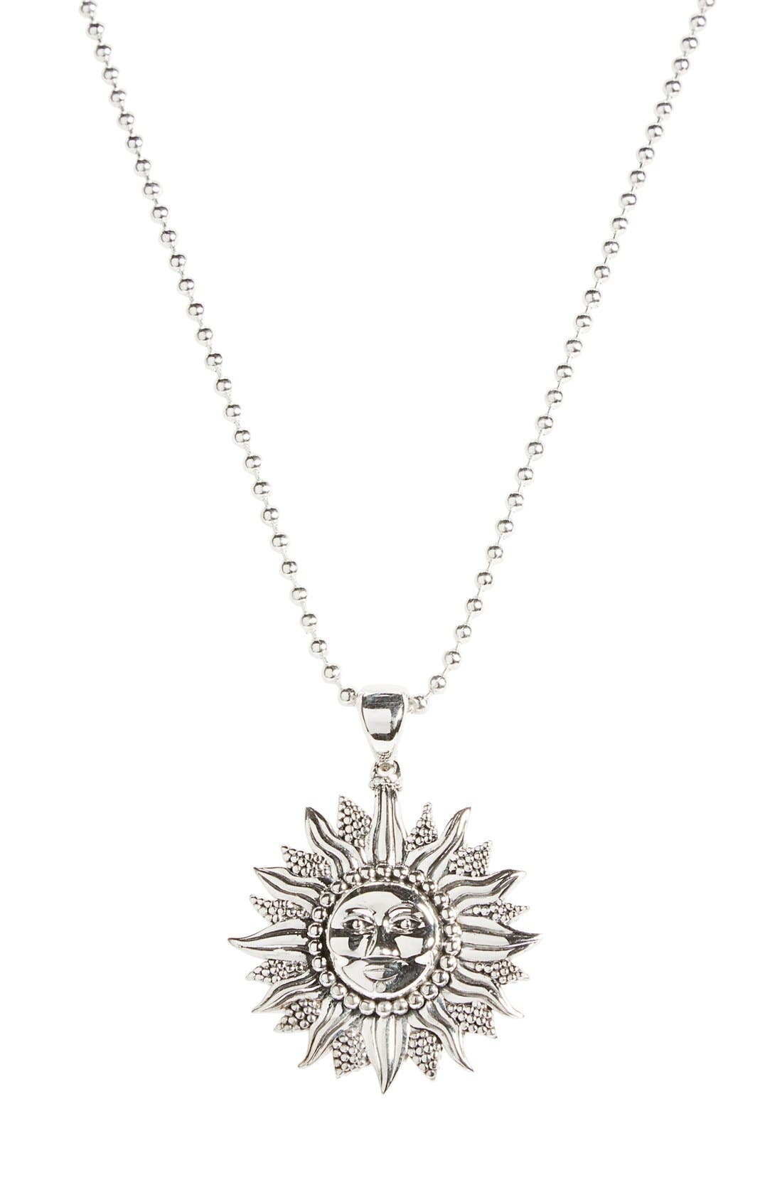 'Rare Celestial' Multistrand Pendant Necklace,                             Main thumbnail 1, color,                             Silver/ Sun