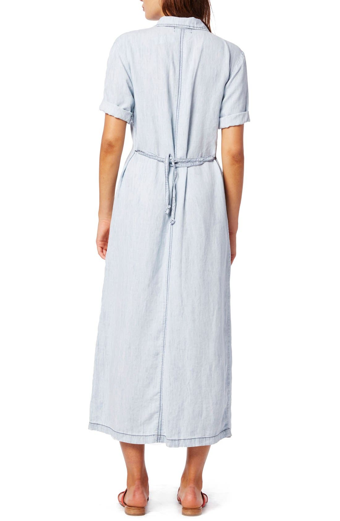 Alternate Image 2  - Michael Stars Button Front Chambray Maxi Dress