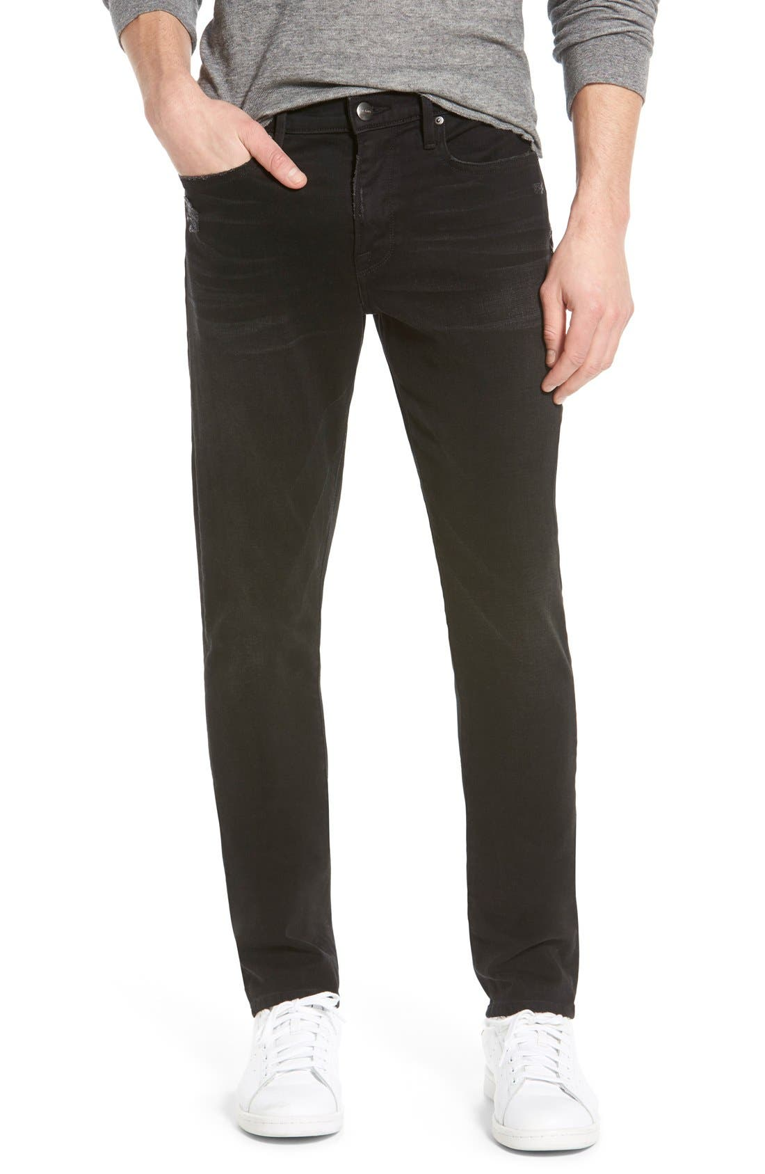 'L'Homme' Slim Fit Jeans,                             Main thumbnail 1, color,                             Chimney Rock