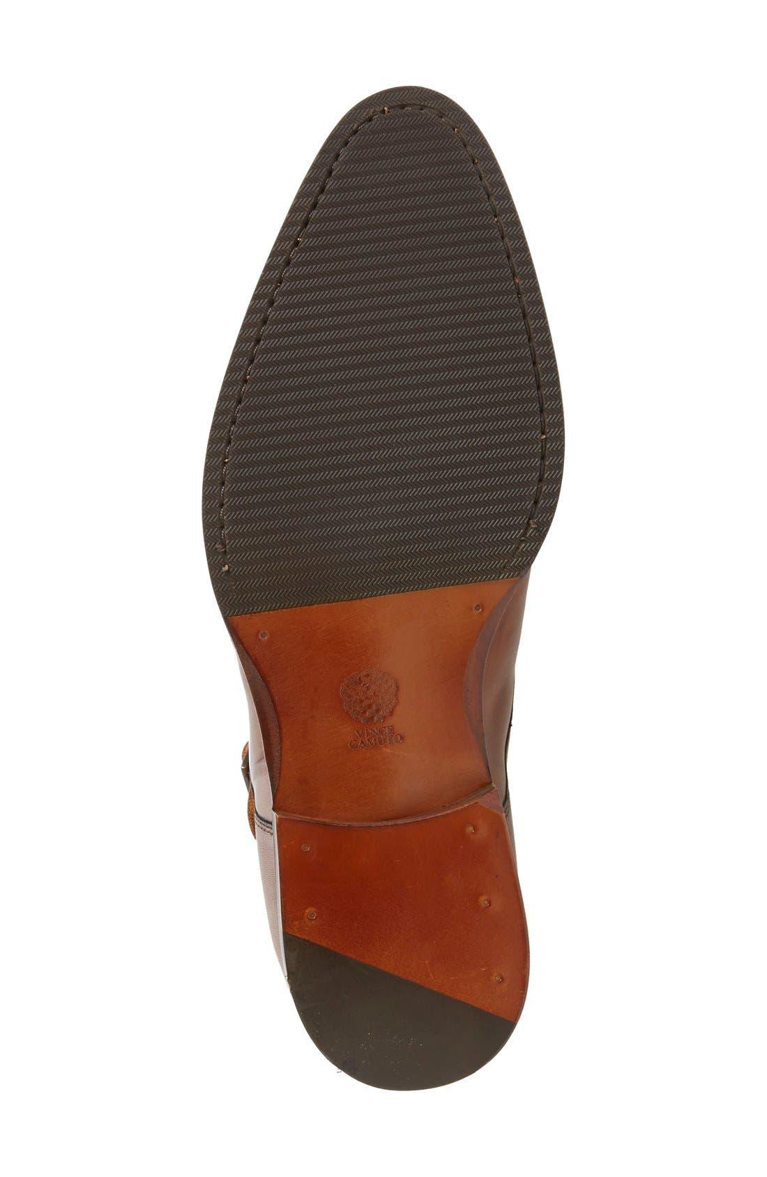 'Briant' Double Monk Strap Shoe,                             Alternate thumbnail 4, color,                             Cognac Leather