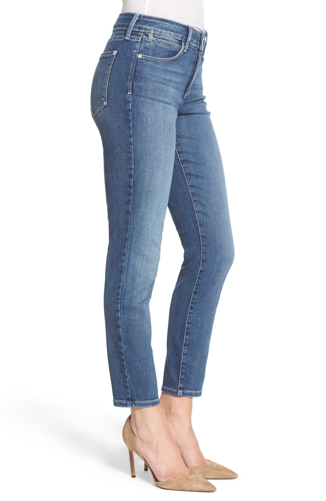 'Clarissa' Stretch Ankle Skinny Jeans,                             Alternate thumbnail 3, color,                             Heyburn