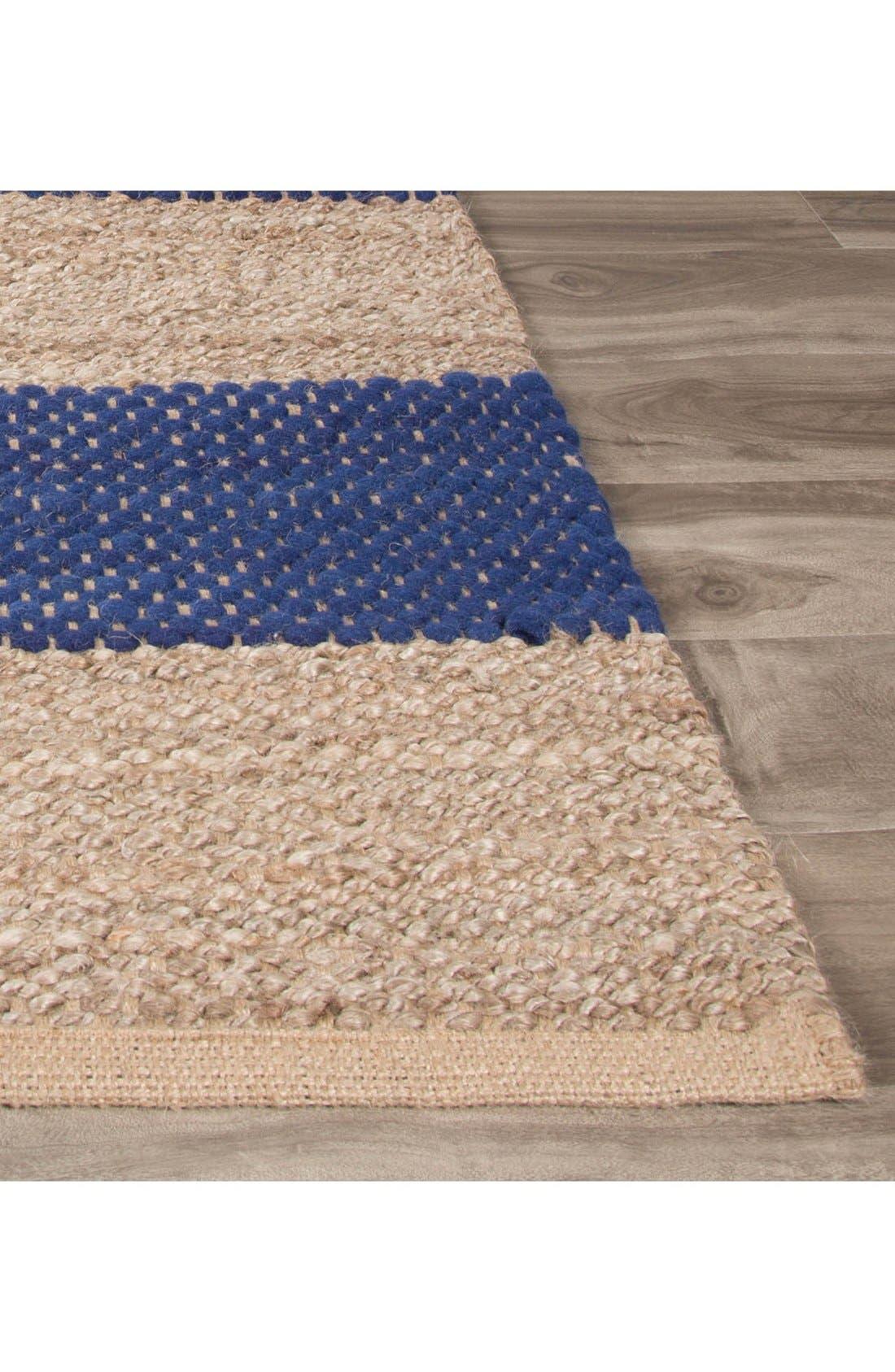 'nolita stripes' rug,                             Alternate thumbnail 2, color,                             Blue/ Natural