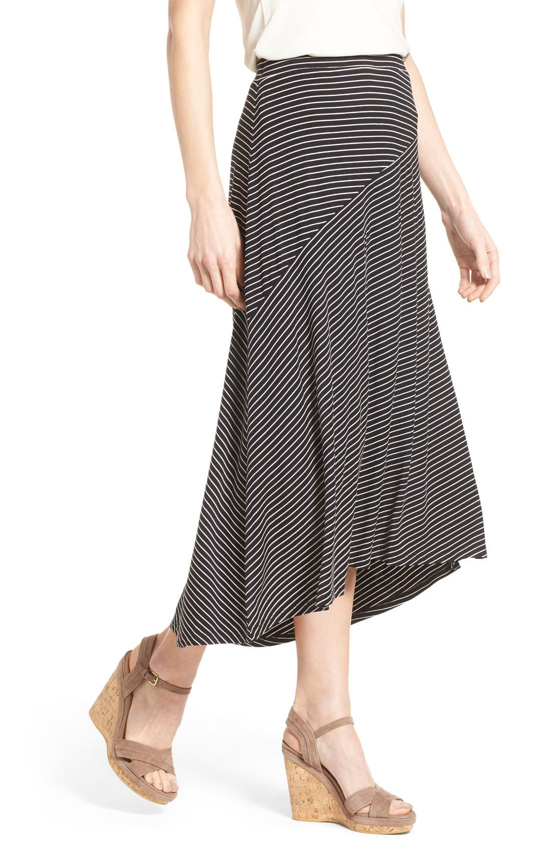 Alternate Image 4  - Chaus 'Pool Stripe' Asymmetrical Maxi Skirt