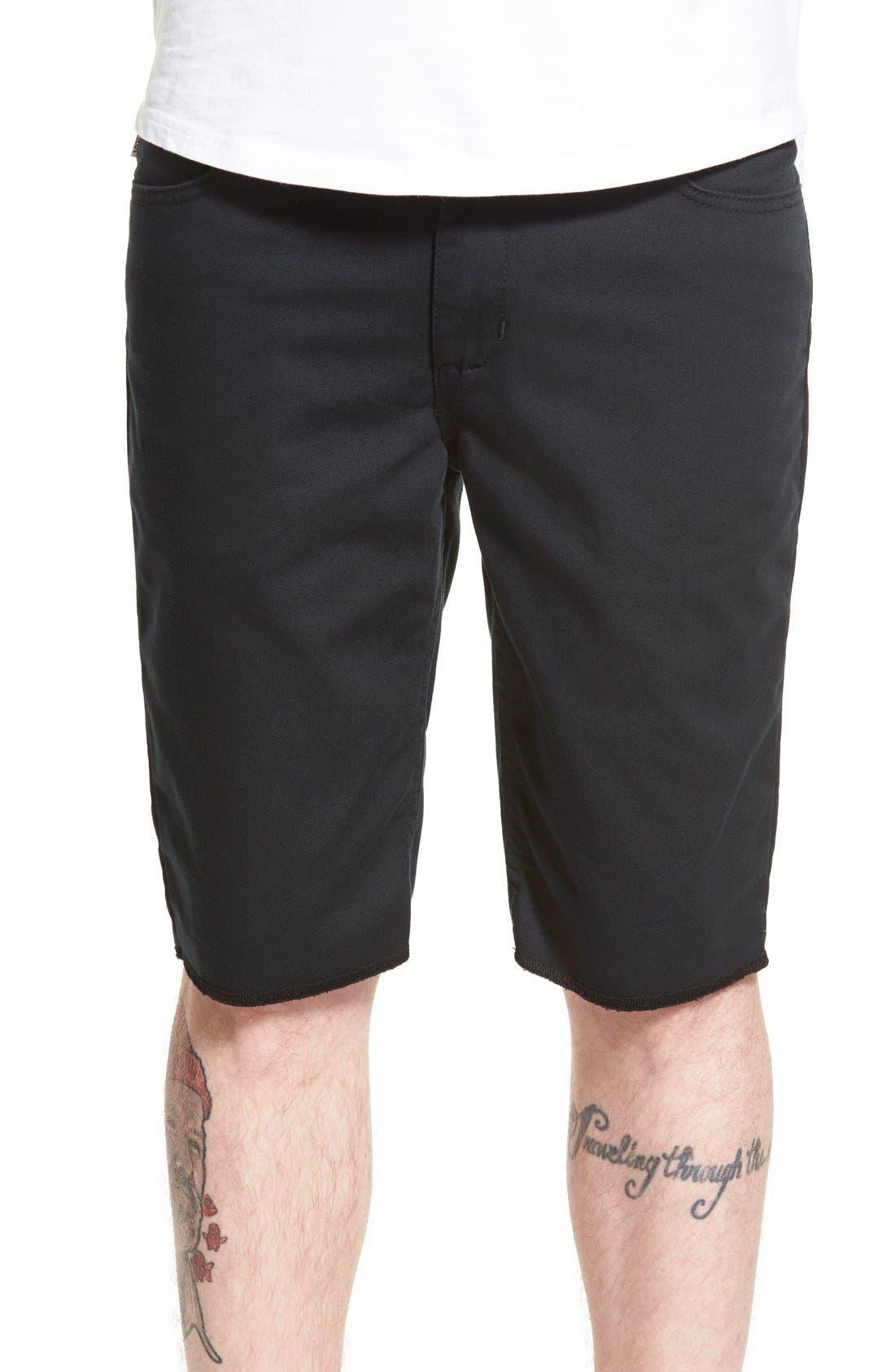 'Covina II - Anthony Van Engelen' Twill Shorts,                             Main thumbnail 1, color,                             Black