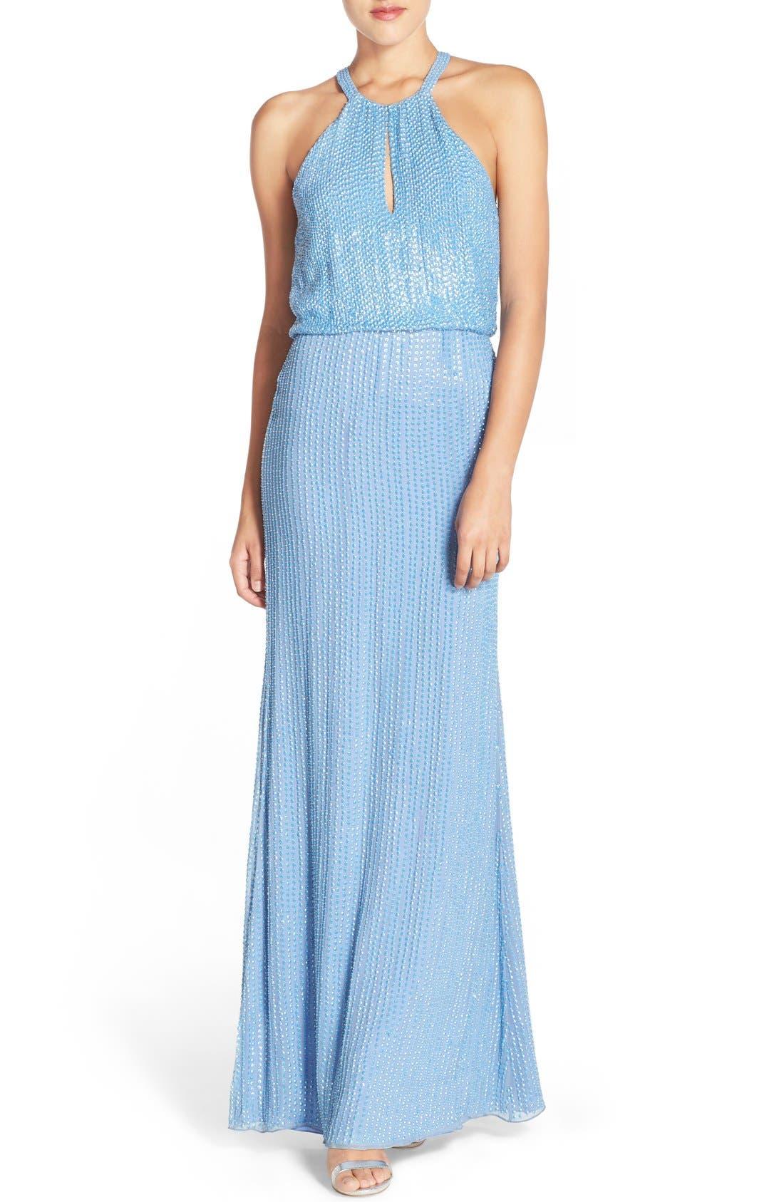 Alternate Image 1 Selected - Parker 'Marceline' Beaded Blouson Gown